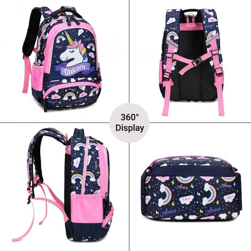 Dark Blue Unicorn Kids School Backpack Trio Kids Singapore