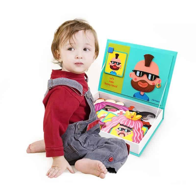 Magnet Play Box - Crazy Faces JarMelo