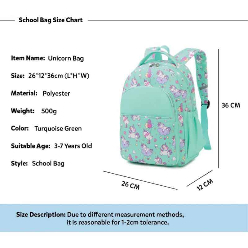 Mini Green Unicorn Backpack Trio Kids Singapore