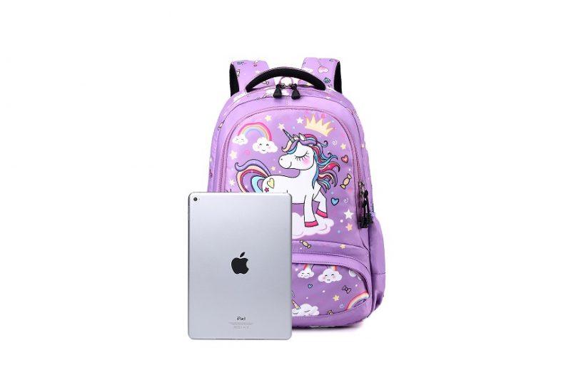 Purple Unicorn School Backpack October 2021